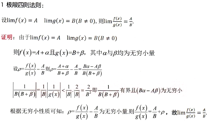 2020考研数学证明题:极限四则运算