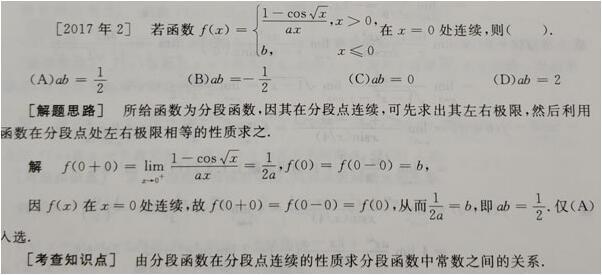 2020考研数学二分题型详解:函数的连续型