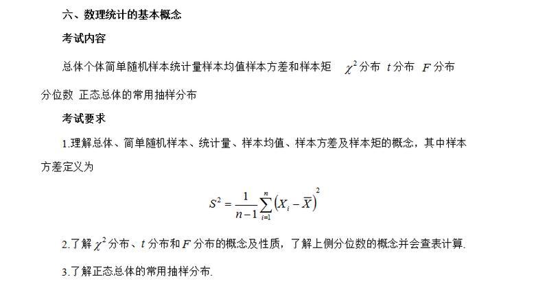 2020考研数学一大纲原文