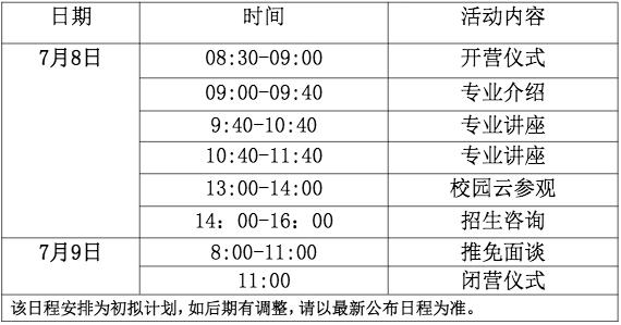2020年南京大学海外教育学院优秀大学生线上夏令营日程安排