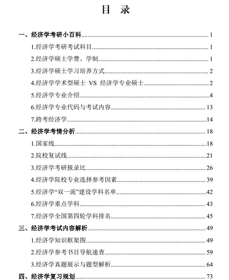 考研经济学专业百科知识